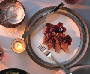 Duck Breast with Cherry Port Sauce